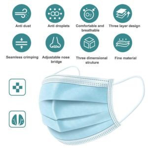 Safestar Premium Disposable Face Mask...